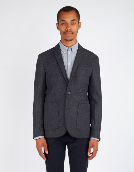 Men's Minimum Black Enzo Blazer Dark Grey Melange