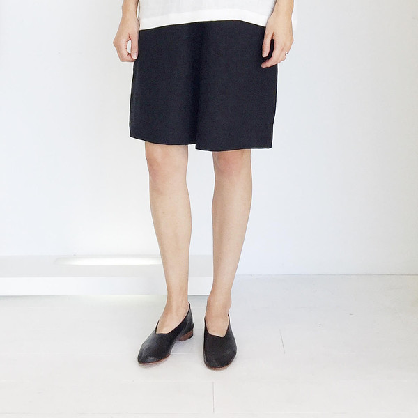Johan b Black Linen Dress Short