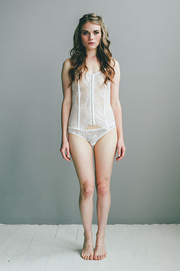 Lace Corset with Matching Lace Thong