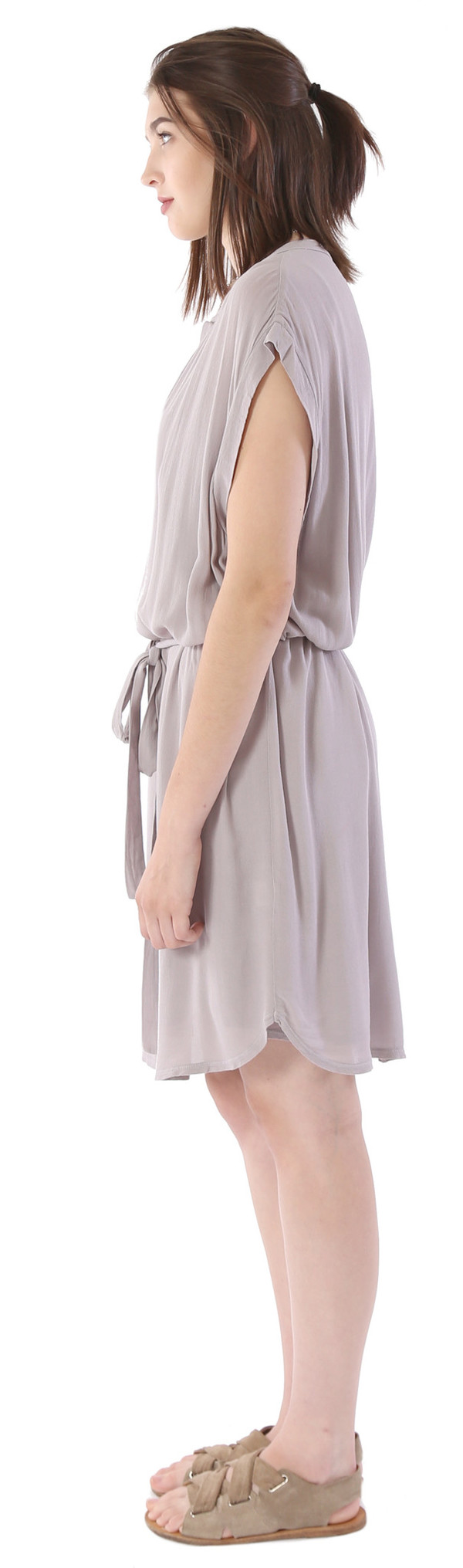 Lanston Sleeveless Dress in Stone