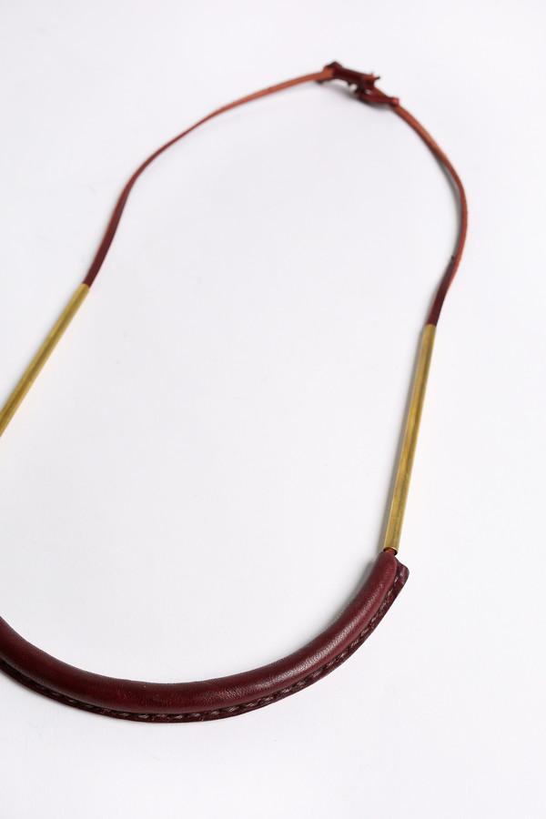 Crescioni Bare circuit necklace in oxblood