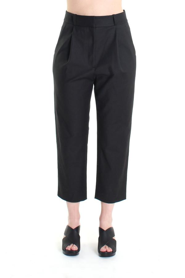 Steven Alan Cropped pleated trouser in black
