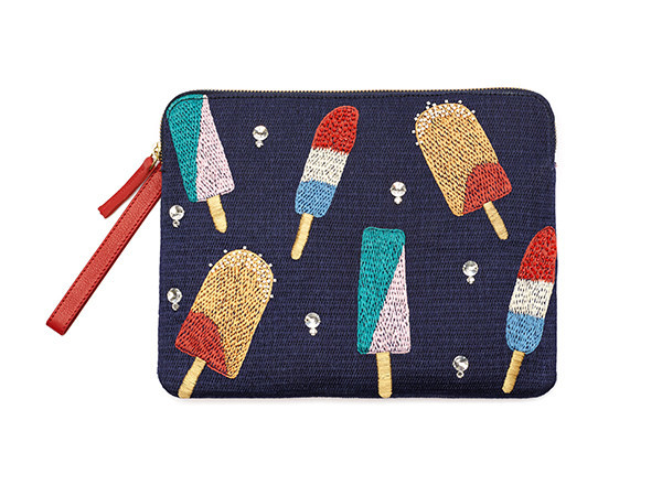 LIZZIE FORTUNATO - SAFARI CLUTCH IN ICE POP