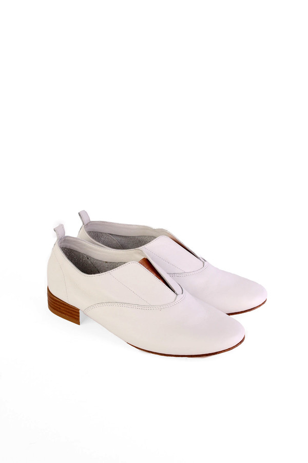Repetto Dean oxford in white