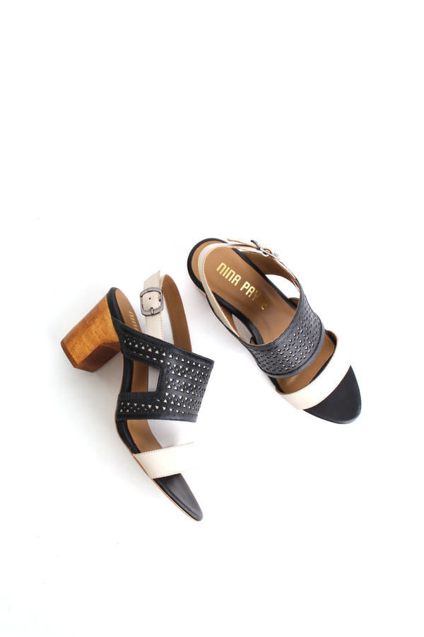 Nina Payne Evan sandals in black/ivory