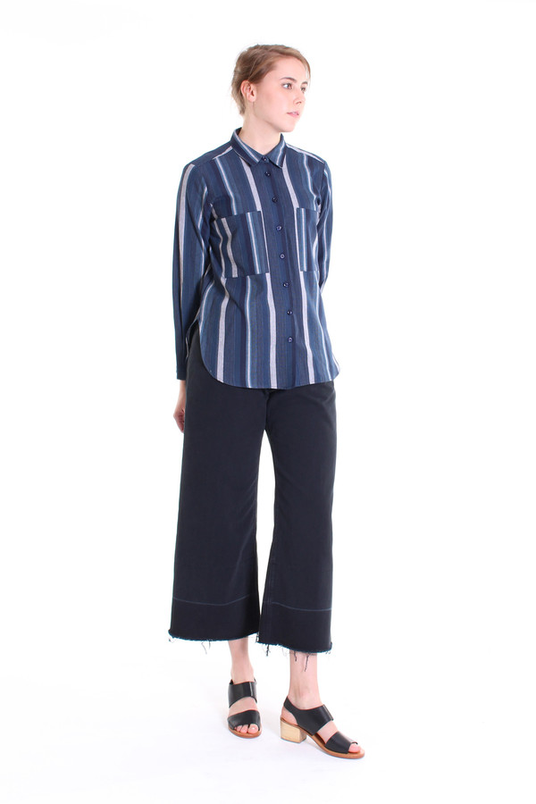 SBJ Austin Jane top in indigo stripe