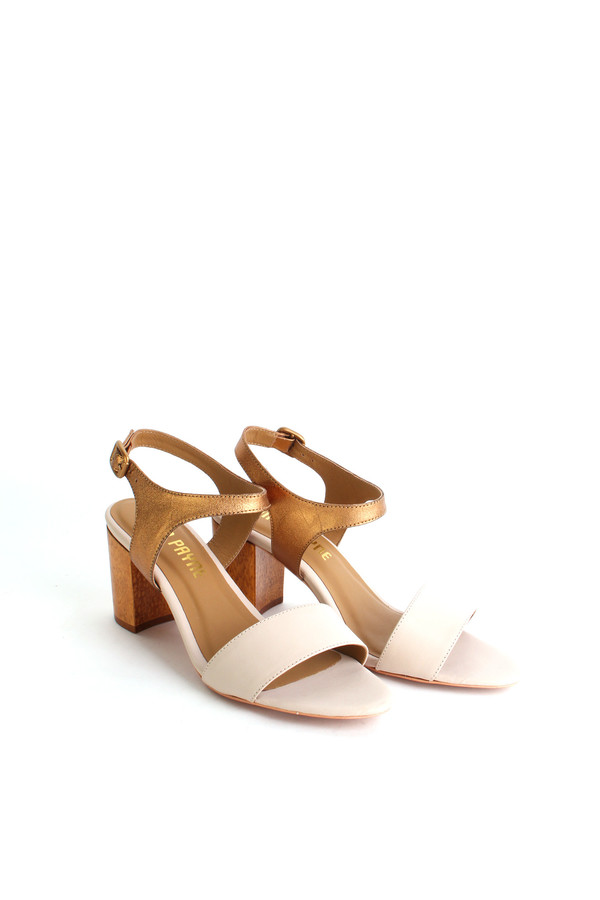 Nina Payne Leonor sandal in cream/bronze