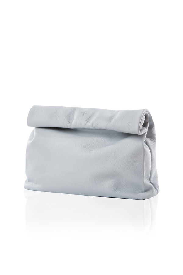 Marie Turnor Lunch clutch in chambray