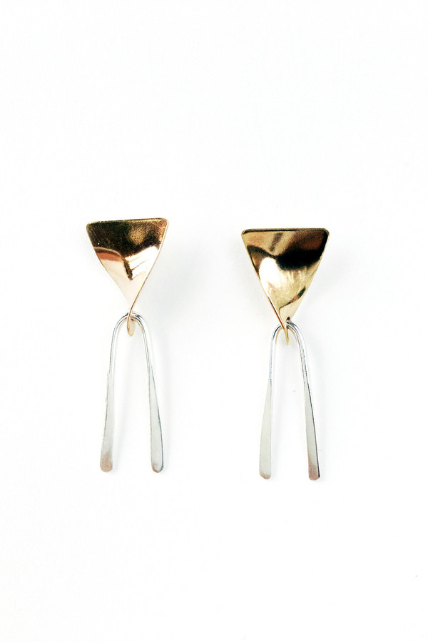 The Things We Keep Mabill earrings in silver/brass