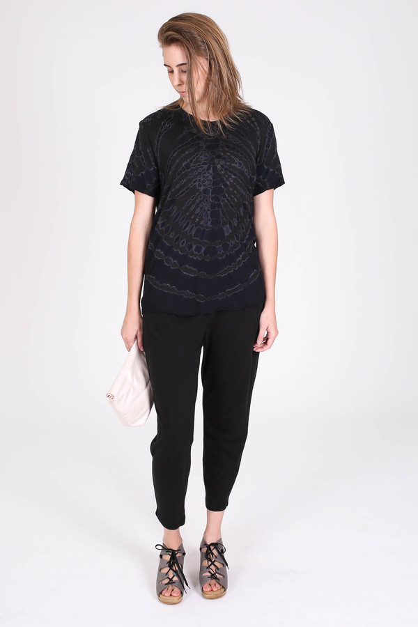 Raquel Allegra Mens tee in black