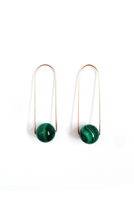The Things We Keep Molo earrings in malachite