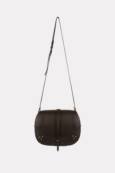 Jerome Dreyfuss Nestor crossbody bag in black/brass