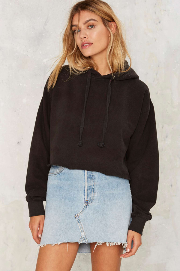 Nasty Gal After Party You're a Champ Cropped Hoodie