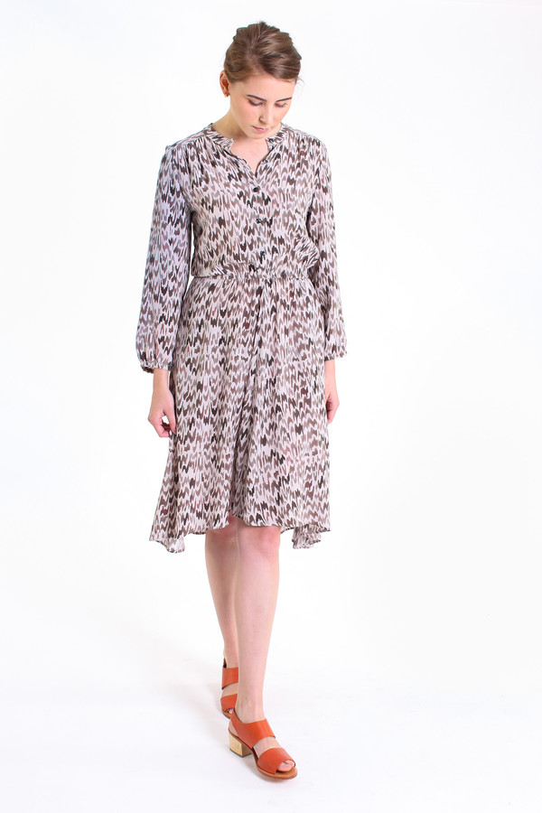 The Podolls Rowan printed dress in hazel