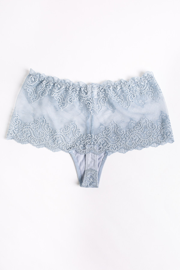 Only Hearts So fine lace cheeky brief in silver blue