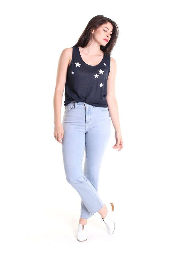 Chinti and Parker Star print tank in navy