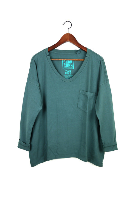 Skargorn #62 Long Sleeve Tee, Petrol Wash
