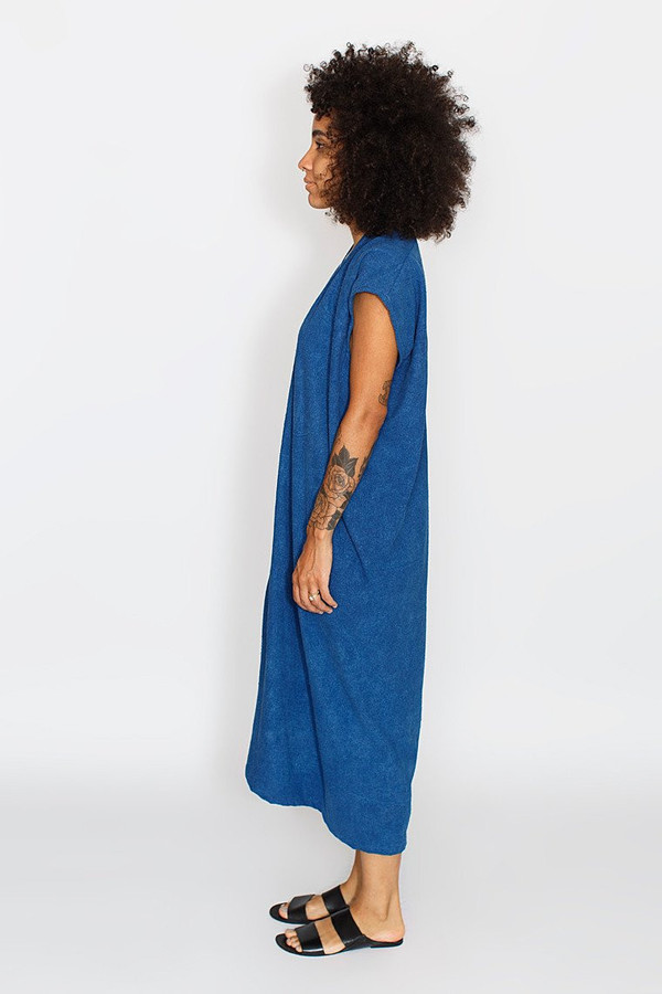 Miranda Bennett Everyday Dress, Oversized, Indigo Silk Noil