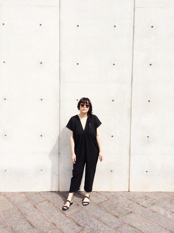 Miranda Bennett Everyday Jumpsuit, Black Silk Noil