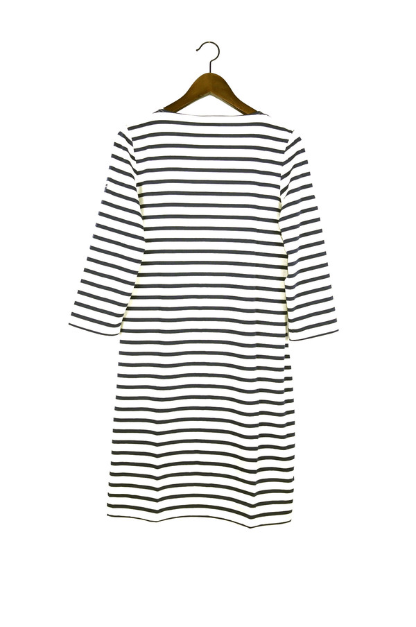 SAINT JAMES Galathee Dress, Ecru/Marine
