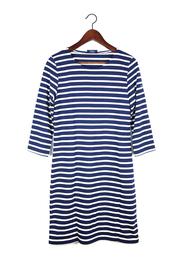 SAINT JAMES Galathee Dress, Marine/Ecru