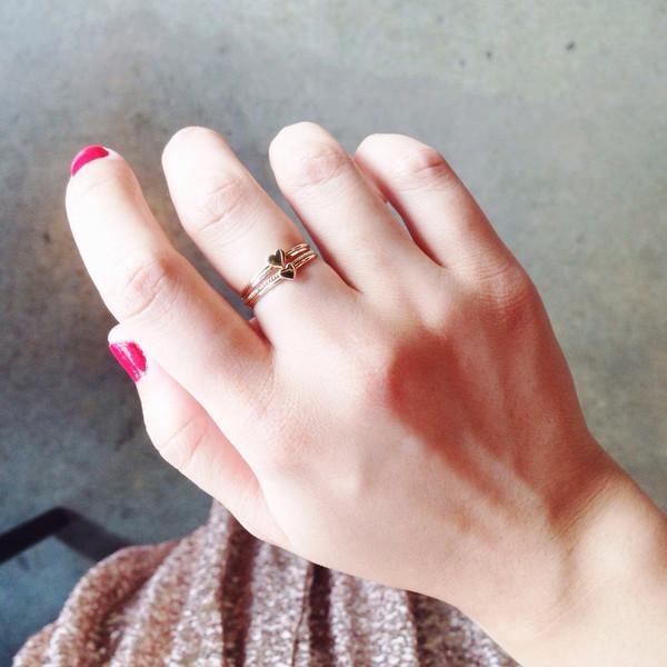 Catbird Heart Ring, 14K Yellow Gold