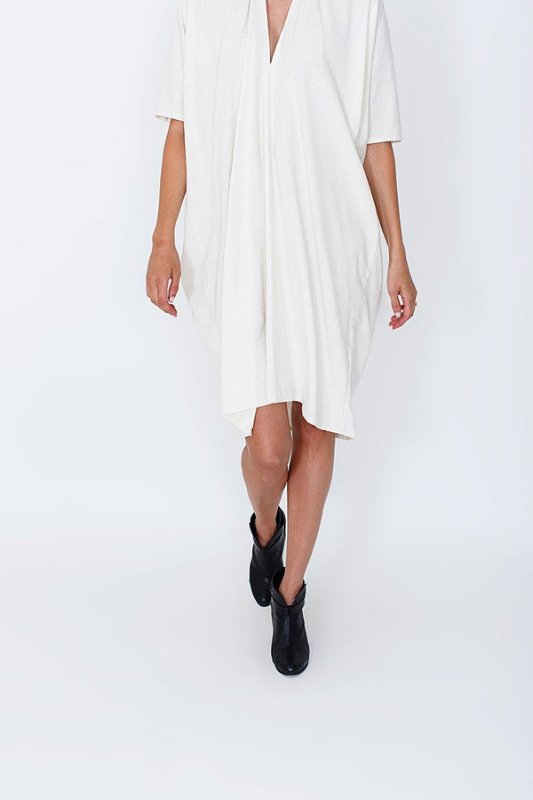 Miranda Bennett Muse Dress, Oversized, Natural Silk Noil