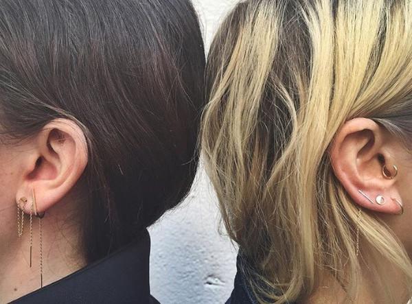 In God We Trust NYC Nunchuck Thread Earring