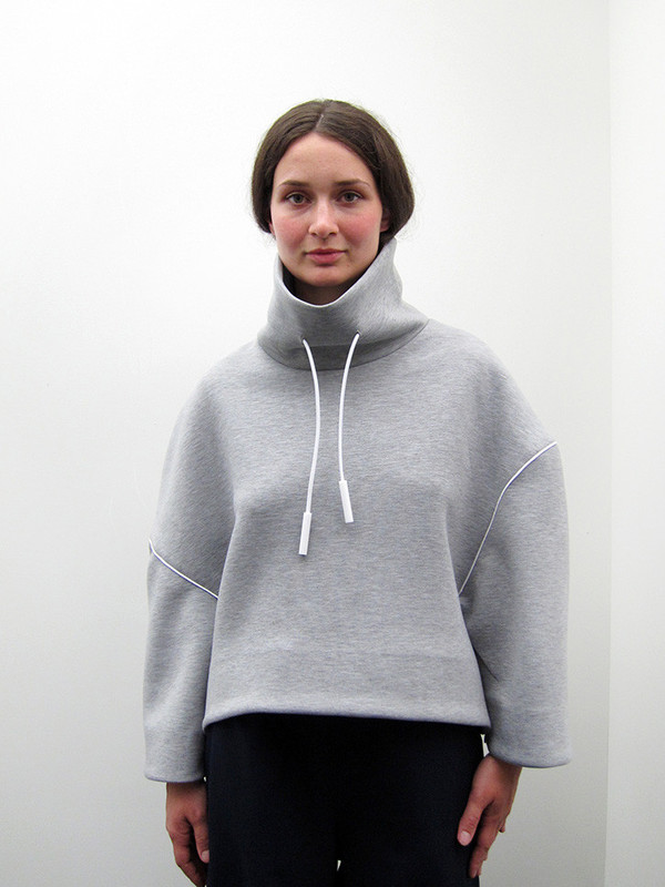 Andrea Jiapei Li Oversized Turtleneck Sweatshirt