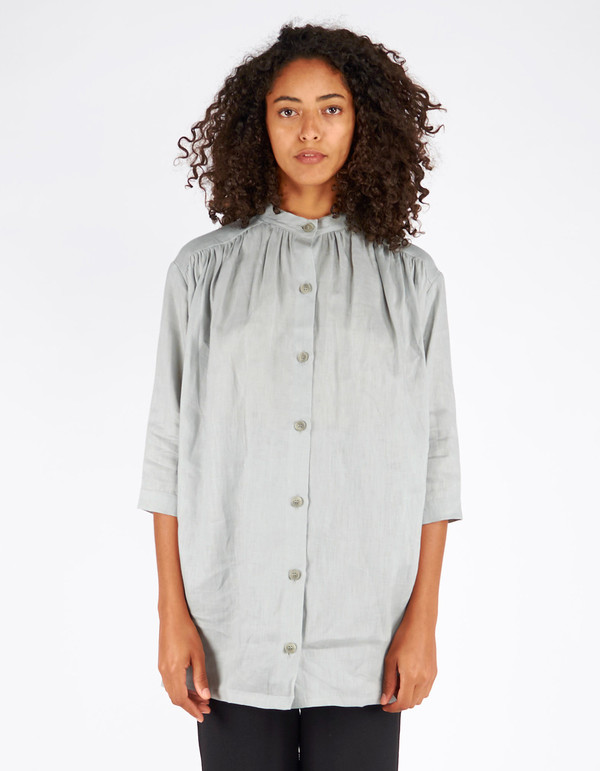 Ursa Minor Grace Linen Blouse Dove Grey