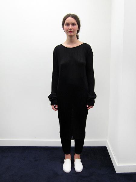 PRISCAVera Plisse Knit Dress