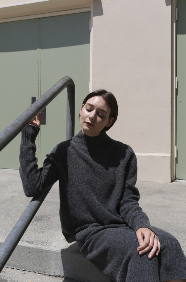 Objects Without Meaning Mock Neck Sweater in Grey