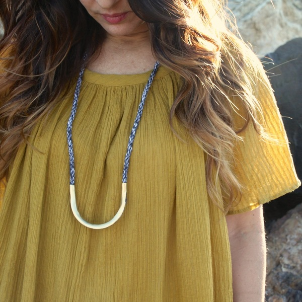 The Things We Keep Linen Twist Necklace
