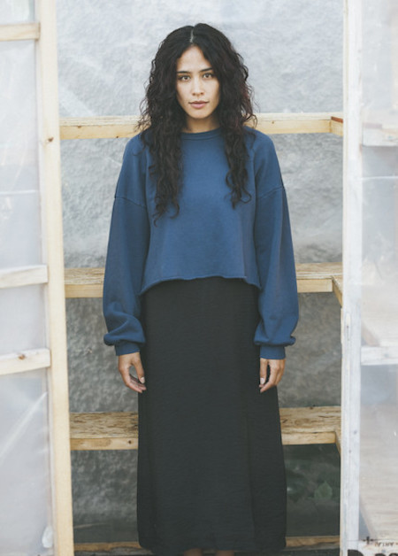 Lacausa - Cropped Pullover in Velvet