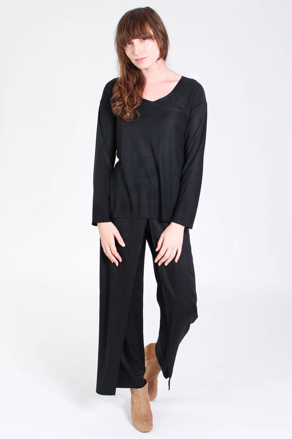Shaina Mote Loose long sleeve tee in ink