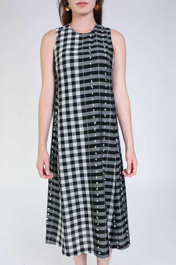 Svilu Swann dress in black/white check