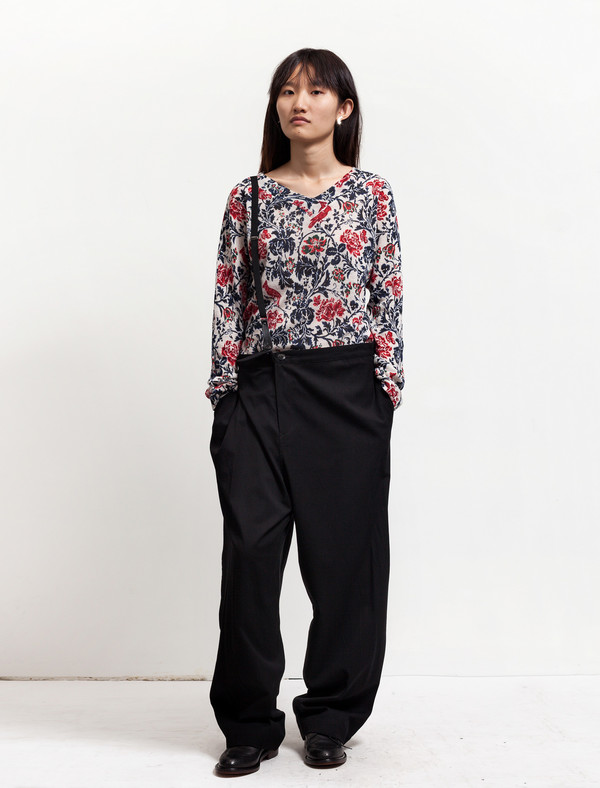 Ys by Yohji Yamamoto Womens Single Suspender Trousers
