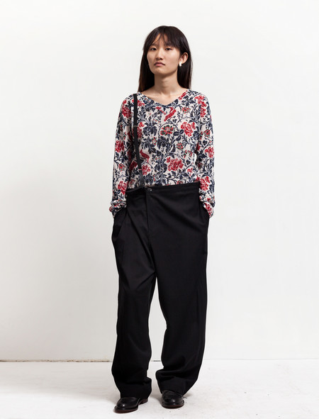 Ys by Yohji Yamamoto Womens Single Suspender Trousers