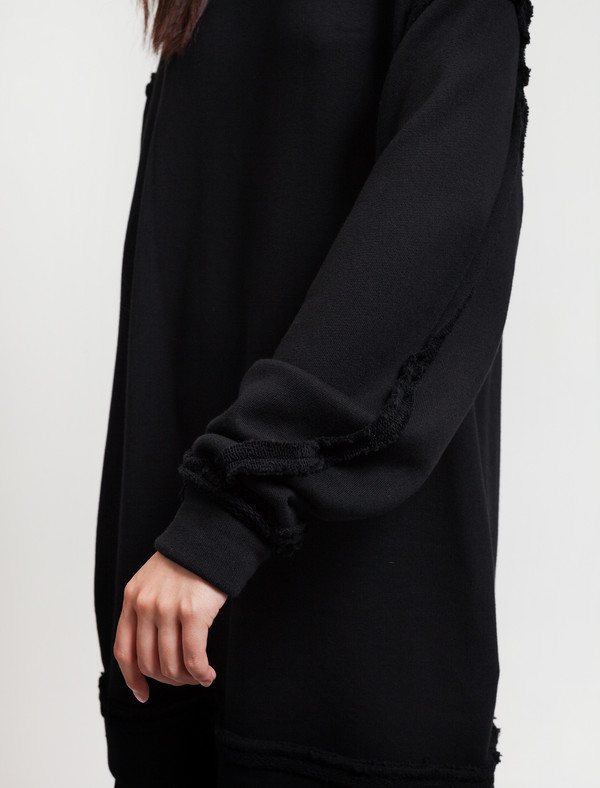 Ys by Yohji Yamamoto Womens Sweatshirt Dress Black
