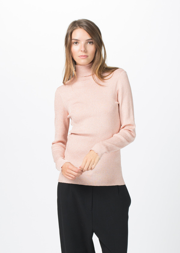 Sara Lanzi Knit Lurex Turtleneck