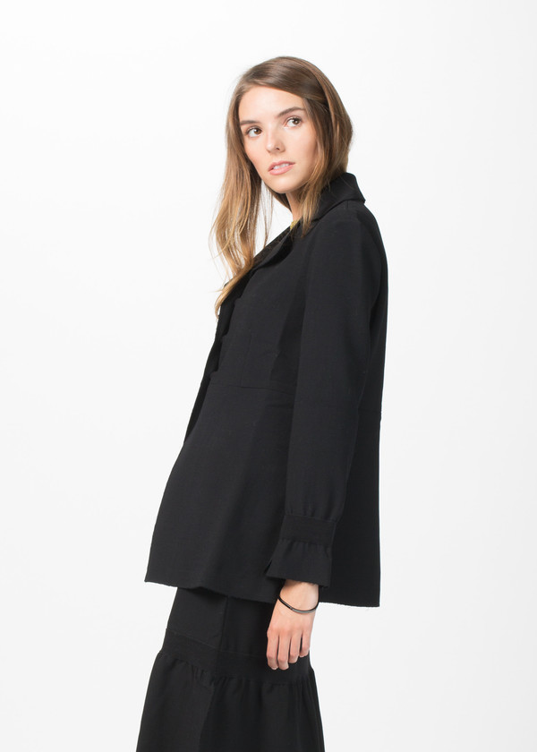 Sara Lanzi Stretch Crepe Blazer