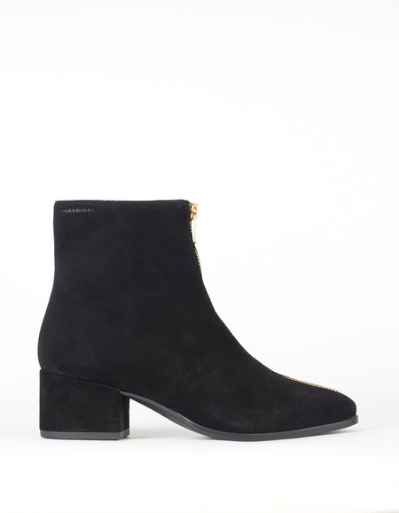 Vagabond Daisy Suede Zip Boot Black