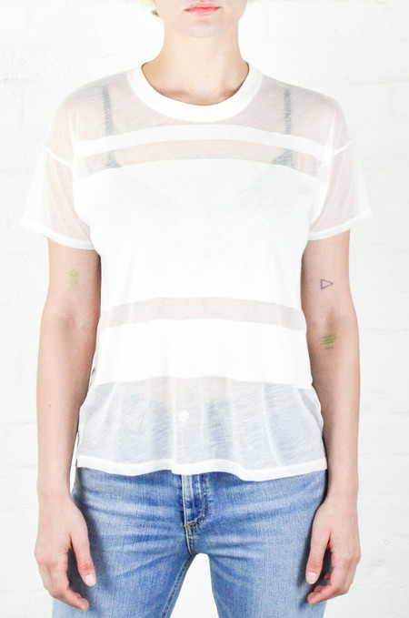 Rag and Bone Bright White Vintage Burnout Crew Tee