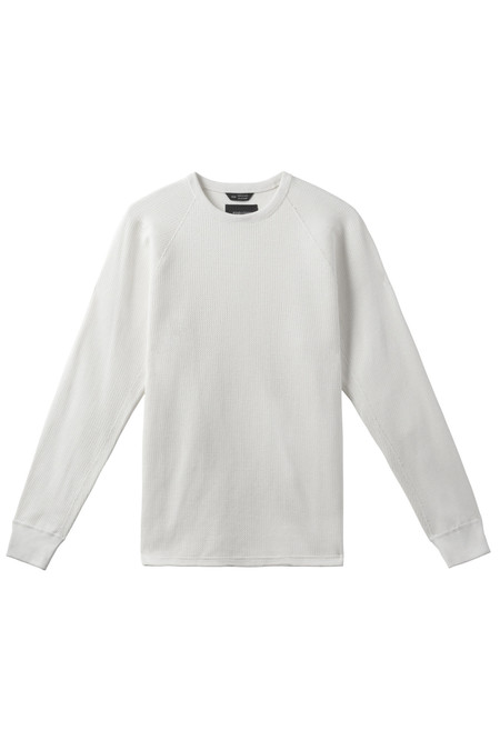 Men's Wings + Horns Chain Knit Crewneck  | White