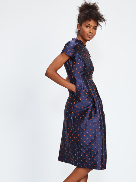 NIKKI CHASIN MARTA PLEAT DRESS