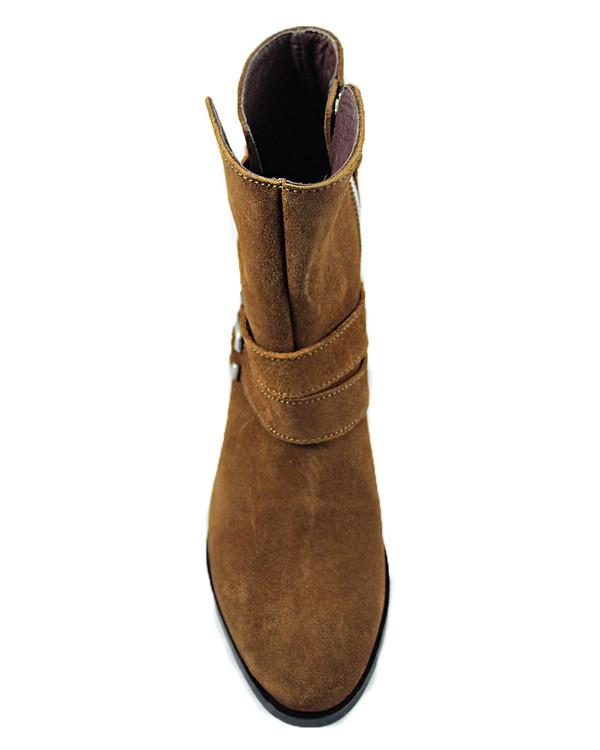 Cartel Footwear AW16 Biker Boot - Palmira Suede