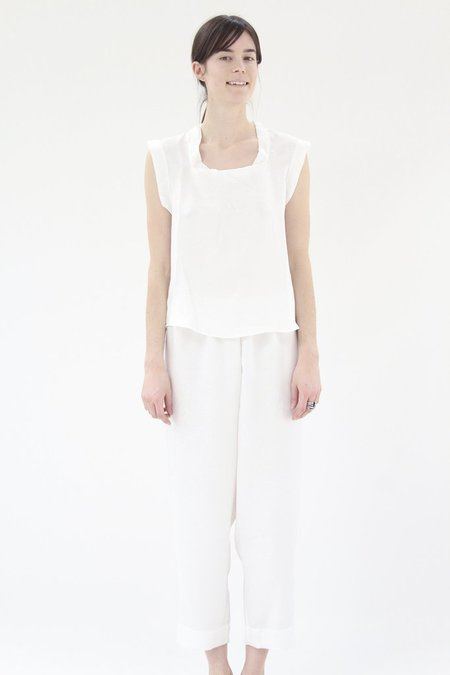 Lina Rennell Silk PJ's White