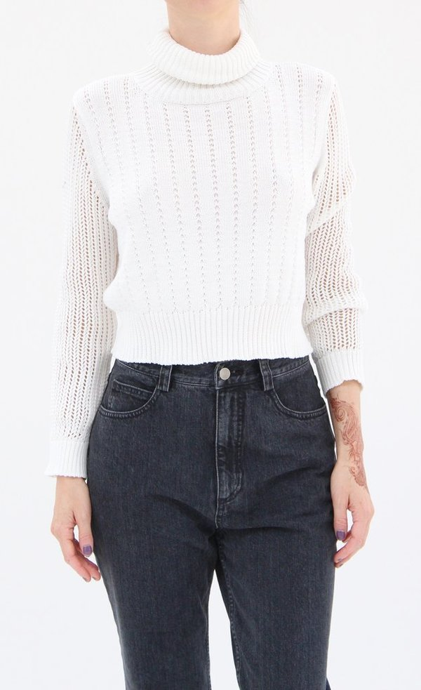 Rachel Comey Cropped Turtle Neck White
