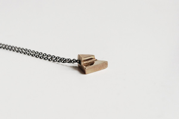 THE THINGS WE KEEP - CLARA NECKLACE ON STERLING SILVER CHAIN - BRONZE