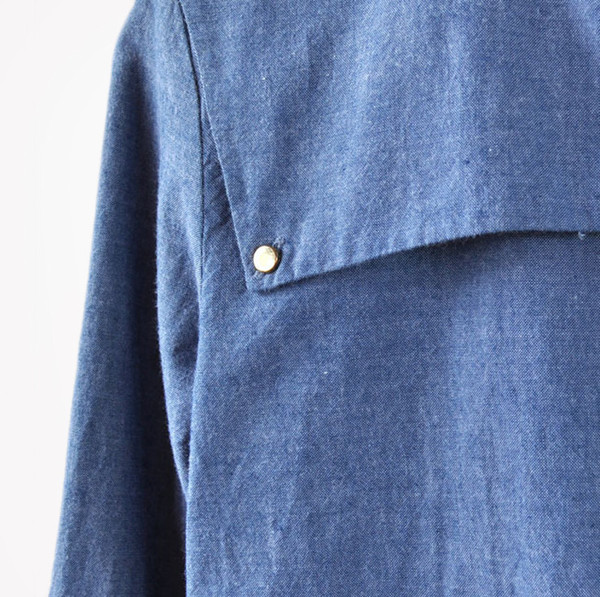 VALENTINE GAUTHIER - LONG SLEEVE BUTTON DOWN - CHAMBRAY